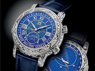 百达翡丽手表在上海回收价格是多少?